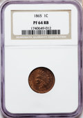 Proof Indian Cents: , 1865 1C PR64 Red and Brown NGC. NGC Census: (68/76). PCGS Population (69/23). Mintage: 500. Numismedia Wsl. Price for probl...