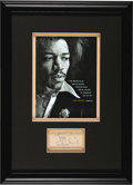 Music Memorabilia:Autographs and Signed Items, Jimi Hendrix Autograph. An exceptional autograph from the mostinfluential guitarist in Rock history, written in blue ink on...