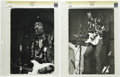 "Music Memorabilia:Photos, Jimi Hendrix Vintage Photos. Two b&w 11"" x 14"" photos ofHendrix performing. Graded Fine and Very Fine by CGC. From theKe..."