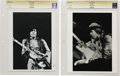"Music Memorabilia:Photos, Jimi Hendrix Vintage Photos. Two b&w 8"" x 10"" photos of Hendrixperforming. Both are graded Very Fine by CGC. From the Ken...(Total: 2 )"