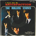 """Music Memorabilia:Recordings, Rolling Stones """"Satisfaction"""" Picture Sleeve 45 London 9766 (1965).If you were lucky, your copy of the Stones' biggest hit ..."""
