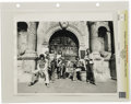 "Music Memorabilia:Photos, Rolling Stones Vintage Alamo Photo. A b&w 11"" x 14"" photo ofthe Stones posing outside the Alamo. Graded Fine by CGC.From..."