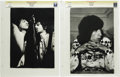 """Music Memorabilia:Photos, Mick Jagger, Ron Wood, and Bill Wyman Vintage Photos. Two b&w11"""" x 14"""" photos, one a close-up of Jagger and Wood performing...(Total: 2 )"""