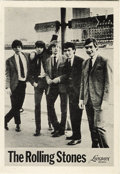 Music Memorabilia:Memorabilia, Rolling Stones Carnegie Hall Concert Mini Handbill (Jaymur Productions, 1964). For their New York debut concert on June 20, ...