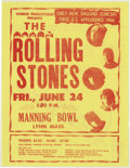 Music Memorabilia:Memorabilia, Rolling Stones Manning Bowl Concert Handbill (Hubbub Productions,1966). The Rolling Stones traveled across America through ...