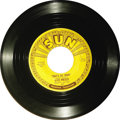 "Music Memorabilia:Recordings, Elvis Presley ""That's All Right"" 45 Sun 209 (1954). A huge piece ofRock and Roll history - it's Elvis' first commercial rec..."