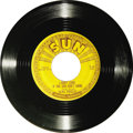 "Music Memorabilia:Recordings, Elvis Presley ""Good Rockin Tonight"" 45 Sun 210 (1954). Elvis'second Sun single was a cover of R&B great Roy Brown's 1948hi..."