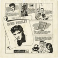 "Music Memorabilia:Recordings, Elvis Presley ""This Is His Life"" Rare Comic Panels Picture SleeveRCA (1956). That it was once reported to have enclosed the..."