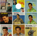 "Music Memorabilia:Recordings, Elvis Presley 45 Picture Sleeve Group of 9 (1959-63). High-gradecopies of RCA picture sleeves includes ""A Big Hunk O'Love""/...(Total: 9 )"