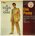 "Music Memorabilia:Recordings, Elvis Presley ""A Touch Of Gold"" Volume 1 EP RCA 5088 Mono (1959).Sensational maroon label copy includes the quad hits ""Hard..."