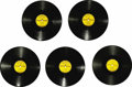 """Music Memorabilia:Recordings, Elvis Presley Sun 78s Complete Set (1954-55). These are the recordsthat paved the way for Elvis' ascension to the title """"Ki..."""