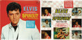 """Music Memorabilia:Recordings, Elvis Presley """"Spinout"""" and """"Speedway"""" LPs RCA (1966-68). Gorgeouscopies complete with cover stickers and color photos. """"Sp..."""