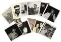 Music Memorabilia:Photos, Elvis Assorted Vintage Snapshots. Set of 11 rare vintage b&w snapshots of Elvis dating from 1956 to 1964, plus a color snaps...