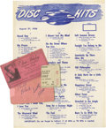 Music Memorabilia:Autographs and Signed Items, Bill Black and Scotty Moore Autographs Plus More. Includes a musicstore membership card autographed on the back by Bill Bla...