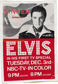 Music Memorabilia:Posters, Elvis Presley TV Special Adhesive Poster. On April 8, 1960 -- about a month after his discharge from the Army -- the album ...