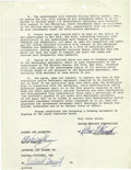 """Music Memorabilia:Autographs and Signed Items, Elvis Signed """"Frankie and Johnny"""" Contract. Four-page agreement,dated May 19, 1964, between Presley and Admiral Pictures In..."""