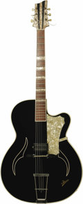 Musical Instruments:Electric Guitars, Elvis Presley's 1958 Isana Black Pearl Acoustic Guitar. Thishandsome jazz guitar with an arch top, mother of pearl headstoc...