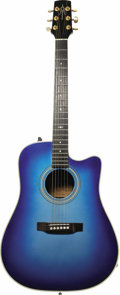 Musical Instruments:Acoustic Guitars, Johnny Cash Used Guitar. This gorgeous blue Alvarez guitar originally belonged to country music legend Johnny Cash; it was p...