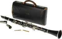 """Benny Goodman's Clarinet. Dubbed """"The King of Swing,"""" Benny Goodman's arrival on the music scene heralded the..."""