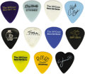 Music Memorabilia:Memorabilia, Country and Western Guitar Picks Group of 11. A nice set of stageused and promotional guitar picks here. Included in the gr...(Total: 11 )