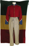 "Movie/TV Memorabilia:Costumes, Mexican Uniform and Flag from ""The Alamo."" John Wayne drew on what he learned from John Ford and Howard Hawks when he made h..."