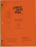 "Movie/TV Memorabilia:Autographs and Signed Items, Chico and the Man Script, Signed by Jack Albertson. ""You'd besurprised how being dead can louse up your day,"" says ""The Man..."