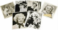 "Movie/TV Memorabilia:Autographs and Signed Items, Great Actresses Signed Photos. Included is an Alice Faye signaturecut (with a b&w 8"" x 10"" photo of her), along with 8"" x 1..."
