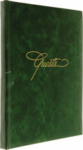 Movie/TV Memorabilia:Autographs and Signed Items, Kaye Ballard's Guest Book. A green leatherbound guestbook used bythe stage and television actress at events held in 1969 an...