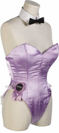 "Movie/TV Memorabilia:Costumes, Playboy Bunny Costume from ""Beverly Hills Cop II."" A Playboy Bunnycostume consisting of a lilac-colored corset with a name ..."
