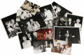 Movie/TV Memorabilia:Photos, Celebrity Photo Group. Set of 15 vintage b&w and color photosand snapshots of various sizes of assorted celebrities at pla...