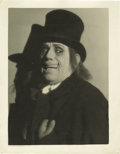 "Movie/TV Memorabilia:Photos, Vintage Lon Chaney ""London After Midnight"" Photo. A very rareb&w 11"" x 14"" promo shot of Chaney as the ghoulish ProfessorB..."