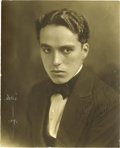 """Movie/TV Memorabilia:Autographs and Signed Items, Charlie Chaplin Signed Photo. A b&w 8"""" x 10"""" photo signed""""Sincerely yours/Chas. Chaplin"""" in black ink by the legendarycome..."""