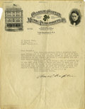 """Movie/TV Memorabilia:Autographs and Signed Items, Charlie Chaplin Signed Letter. Typed on business letterhead and dated May 30, 1916, it reads in part: """"How happy I am to bri..."""