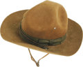 "Movie/TV Memorabilia:Costumes, Gary Cooper's Campaign Hat from ""Sergeant York."" Gary Cooper won his only Academy Award for his performance as World War I h..."