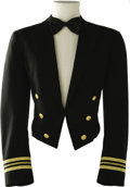 "Movie/TV Memorabilia:Costumes, Kevin Costner ""No Way Out"" Costume Jacket. This black U. S. Navy dinner dress uniform jacket with bow tie was worn by Costne..."
