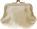 Movie/TV Memorabilia:Costumes, Linda Darnell's Coin Purse. A small, cream-colored coin purse from the personal belongs of late actress Linda Darnell. In Ex...