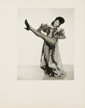 """Movie/TV Memorabilia:Autographs and Signed Items, Linda Darnell Signed Photo. A b&w 8"""" x 10"""" portrait of ahigh-kicking Darnell, inscribed signed by her in blue ink. Mattedt..."""