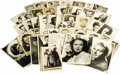 "Movie/TV Memorabilia:Photos, Large Set of Signed and Unsigned Photos of Legendary Actors. Set of49 vintage b&w photos -- mostly 5"" x 7"" with some 8"" x 1..."