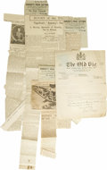 """Movie/TV Memorabilia:Memorabilia, Old Vic Letters and Clippings. The hub of British theatricality wasthe legendary """"Old Vic,"""" where the great thespians came ... (Total:2 )"""