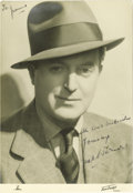 "Movie/TV Memorabilia:Autographs and Signed Items, Signed Photo of Actor Jack Warner. Handsome autographed 8"" x 10""portrait of British actor Jack Warner, star of such films a..."