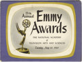 Movie/TV Memorabilia:Autographs and Signed Items, 13th Annual Emmy Awards Program Signed by Rod Serling and Others. Aprogram book from the 13th Annual Emmy Awards, televised...