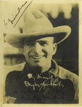 "Movie/TV Memorabilia:Autographs and Signed Items, Doug Fairbanks Signed Cowboy Photo. Nice, vintage b&w 6.5"" x 8""photo of Fairbanks in cowboy regalia, signed by the early ac..."