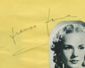 Movie/TV Memorabilia:Autographs and Signed Items, Frances Farmer Autograph. An autograph album page signed by FrancesFarmer in black ink, dated March 15, 1940. In Excellent ...
