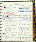Movie/TV Memorabilia:Autographs and Signed Items, Fiorucci Guest Book Signed by Cher, Jodie Foster, and Others. This fine cheetah-print guest book was used at the Fiorucci's ...