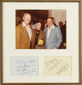"Movie/TV Memorabilia:Autographs and Signed Items, Signed Display of Gerald Ford and Bob Hope. A matted display,featuring color 8"" x 10"" picture of Gerald Ford and Bob Hope w..."