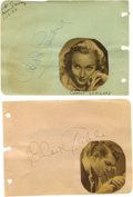 Movie/TV Memorabilia:Autographs and Signed Items, Clark Gable and Carole Lombard Autographs. A pair of autographalbum pages, one each signed by Clark Gable in black ink and ...