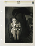 """Movie/TV Memorabilia:Photos, John Gilbert Vintage """"Fires of Youth"""" Photo. A b&w 11"""" x 14"""" photo of John Gilbert in the haunted house drama. Graded Excell..."""