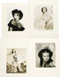 """Movie/TV Memorabilia:Autographs and Signed Items, Margaret O'Brien, Paulette Goddard, Ida Lupino, and Frances DeeSigned Photos. Included are a b&w 7.5"""" x 9"""" photo signed by ..."""