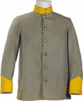 """Movie/TV Memorabilia:Costumes, Confederate Soldier's Jacket from """"Gone With the Wind."""" A grey CSA sack coat worn by an extra in the 1939 classic, one of se..."""
