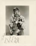 "Movie/TV Memorabilia:Autographs and Signed Items, Huntz Hall Signed Photo. A b&w 7"" x 9"" promo photo of thecomedic actor, inscribed and signed by him in black ink. on the11..."